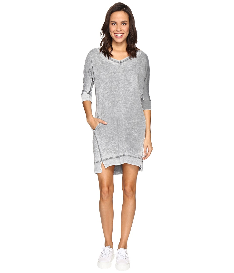 Allen Allen 3/4 Dolman Sleeve V-Neck Dress (Rain) Women