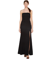 JILL JILL STUART - Strapless Hourglass Gown with Center Buttons, Front Slit and Side Pockets