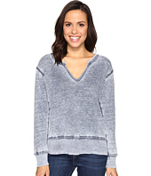 Allen Allen - Split-Neck Sweatshirt