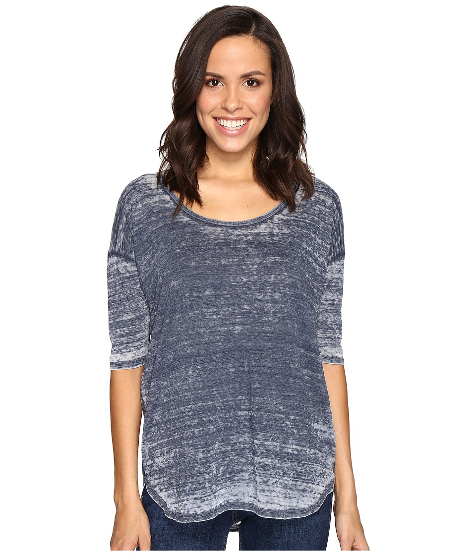 Allen Allen Elbow Sleeve High-Low Tee (Lapis) Women