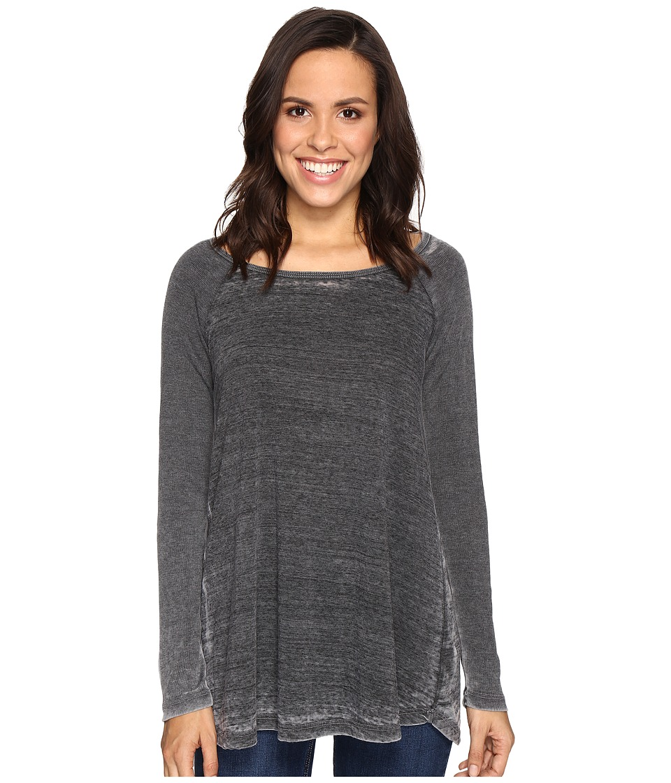 Allen Allen - Raglan Tunic with Ribbed Sleeves