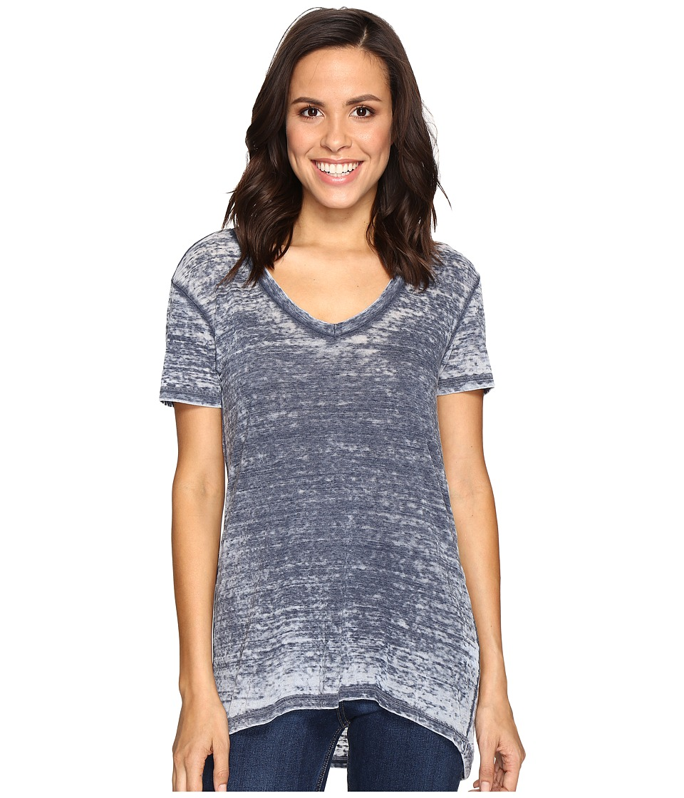 Allen Allen Short Sleeve High-Low Tee (Lapis) Women