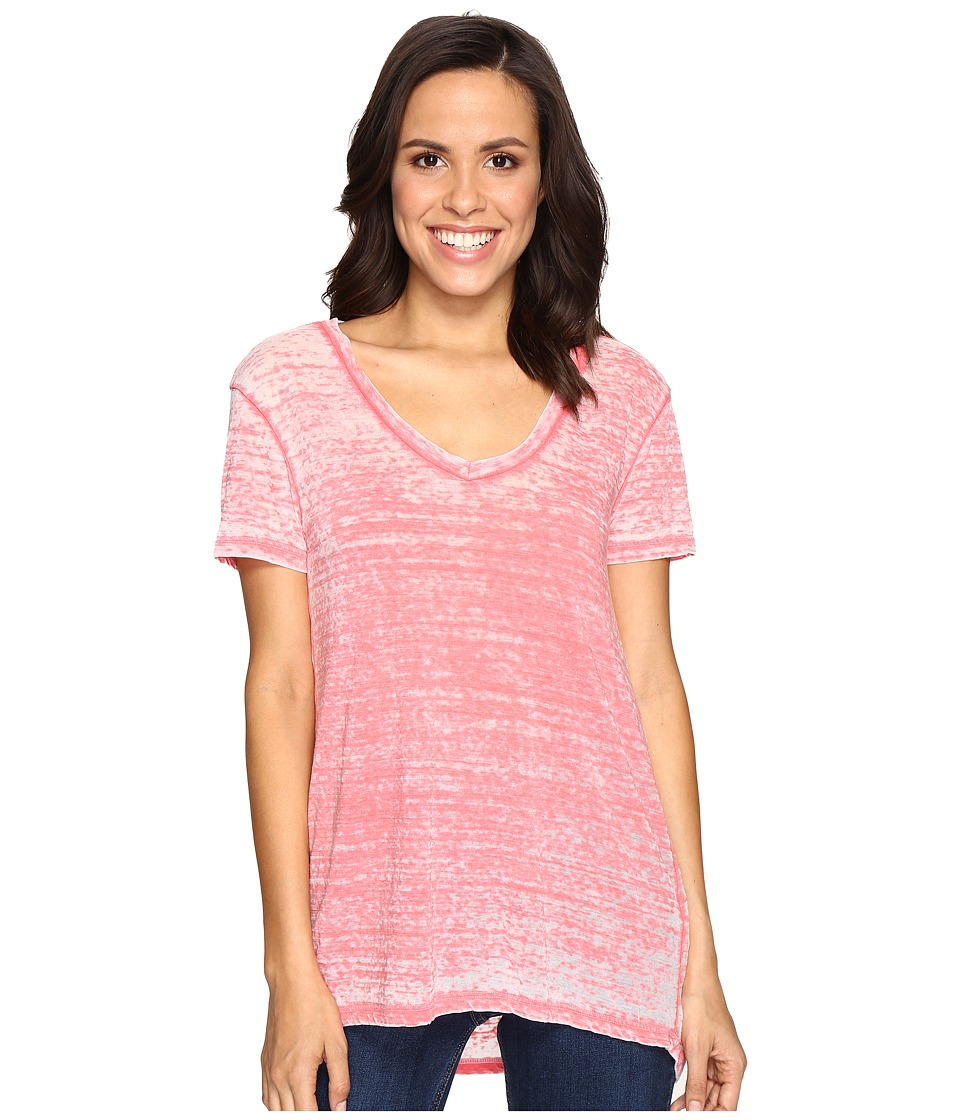 Allen Allen Short Sleeve High-Low Tee (Begonia) Women