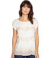 Allen Allen - Multi Stripe Tie-Dye Square Top