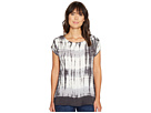 Multi Stripe Tie-Dye Square Top