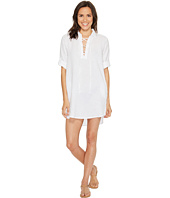 Allen Allen - 3/4 Sleeve Tie Front Dress