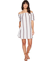 Allen Allen - Two-Pocket Off the Shoulder Stripe Dress