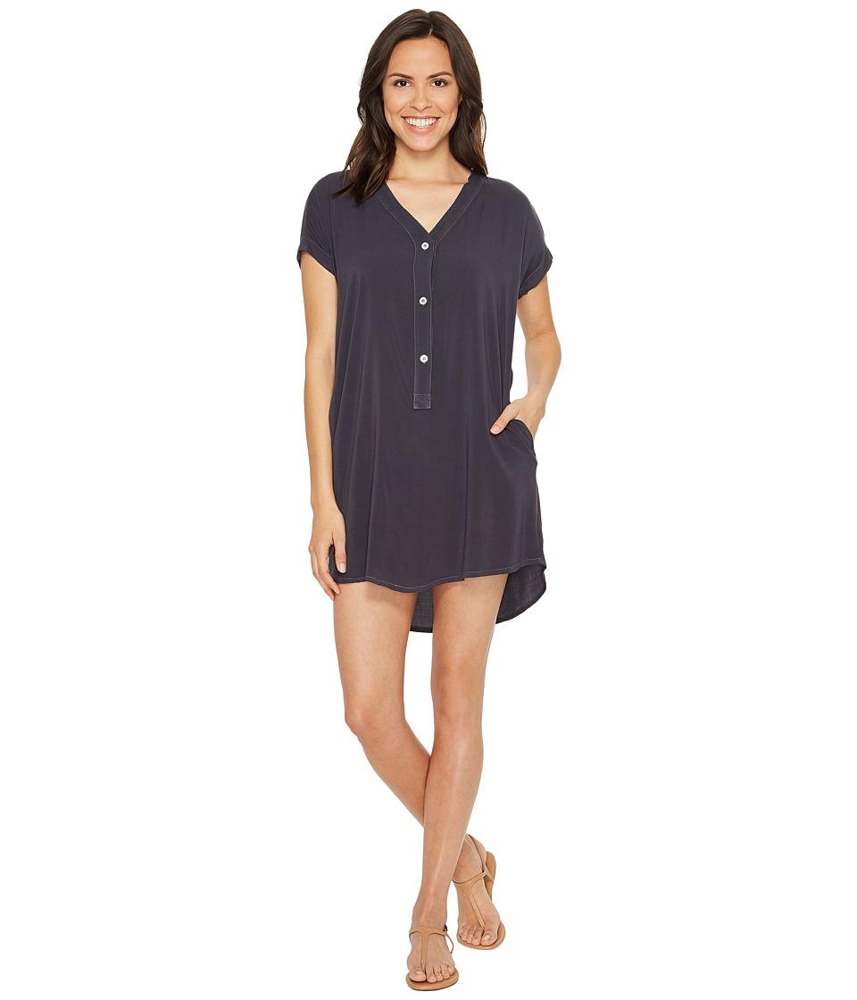 Allen Allen - Short Sleeve Henley Dress