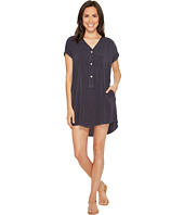 Allen Allen - Short Sleeve Henley Dress