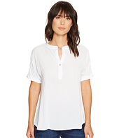 Allen Allen - Tab Collar High-Low Henley Top