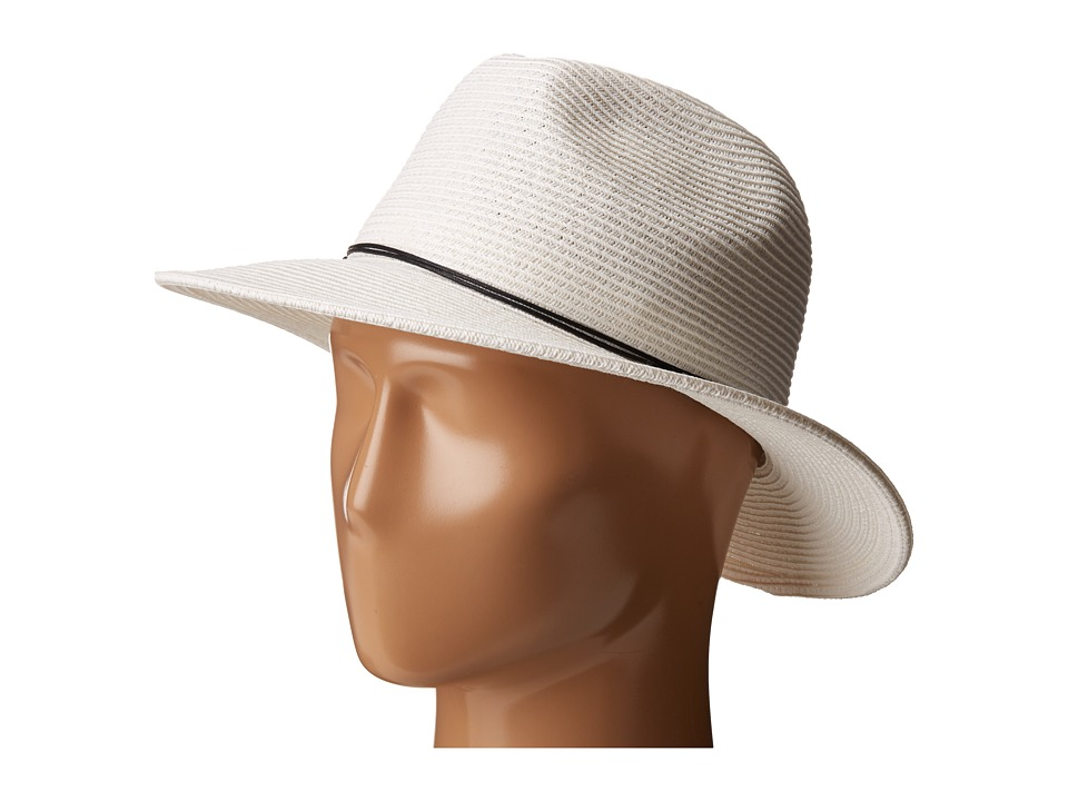 SCALA - Paper Braid Safari with Metal (White) Safari Hats