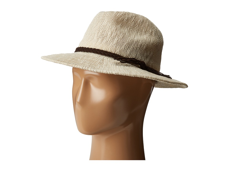 SCALA - Knit Safari with Braid Trim (Ivory) Safari Hats