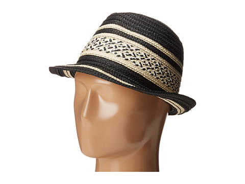 BCBGeneration Stripe Fedora - Black