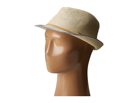 SCALA Matte Toyo Fedora with Bind - Natural