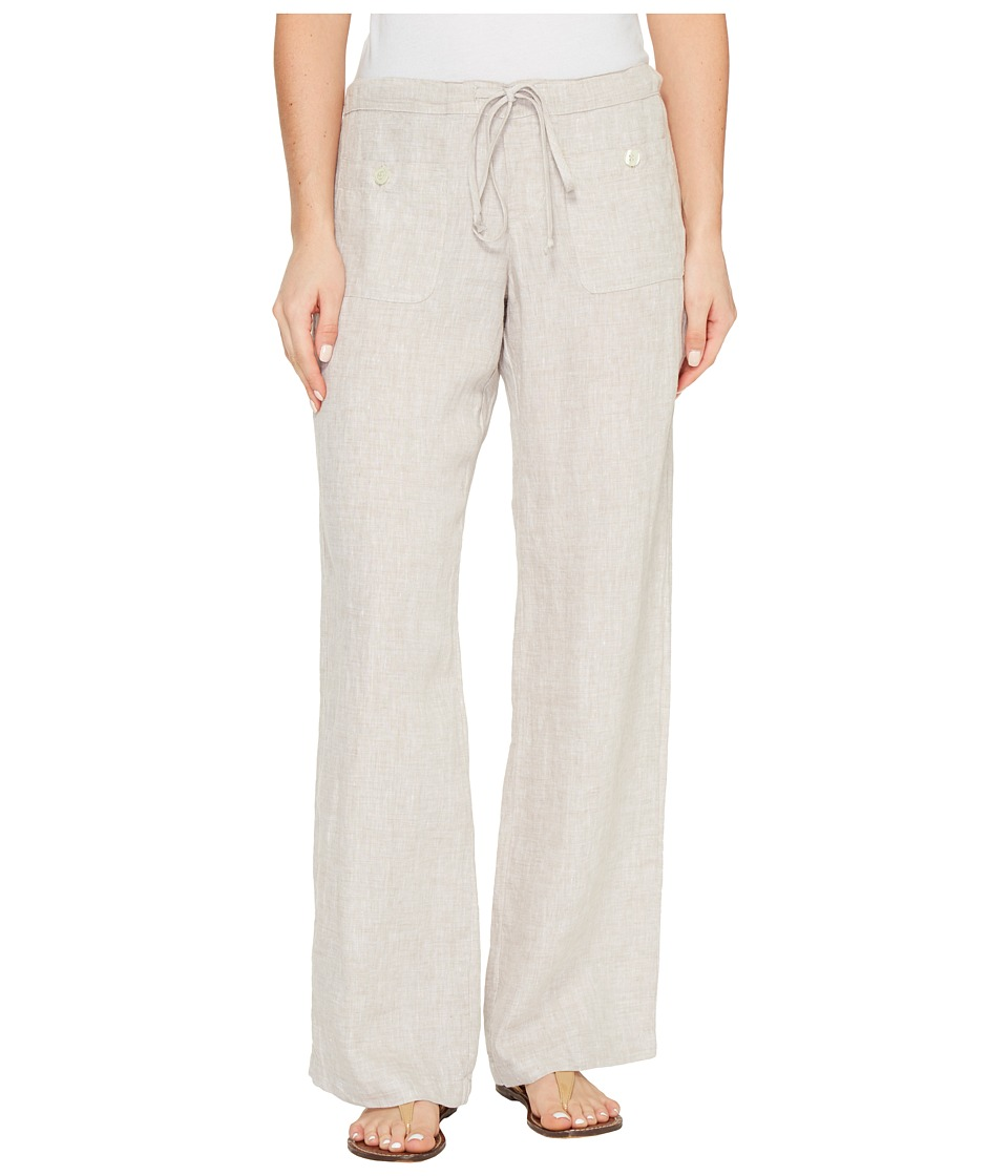 Allen Allen - Four-Pocket Long Linen Pants