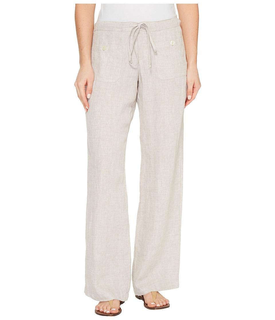 Allen Allen - Four-Pocket Long Linen Pants
