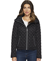 "Marc New York by Andrew Marc - Charlie Chain Link Polyfill Quilt 25"" Jacket"