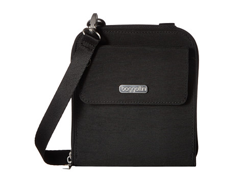 Baggallini Travel Passport Crossbody - Black