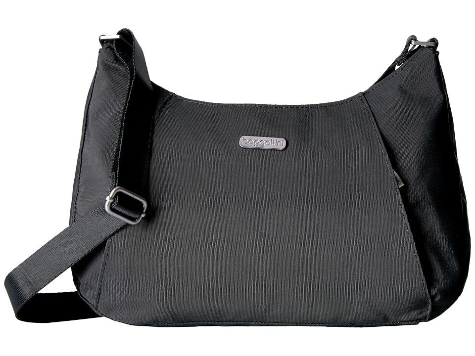Baggallini Slim Crossbody Hobo (Charcoal) Hobo Handbags