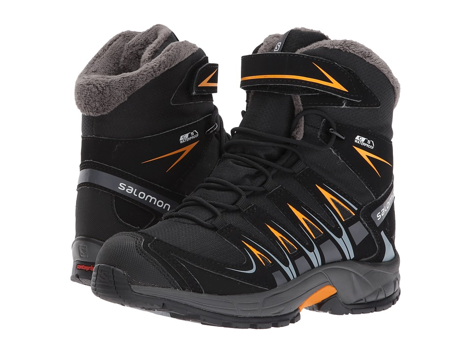 Salomon Kids - XA Pro 3D Winter TS CSWP (Little Kid/Big Kid) (Black/India Ink/Bright Marigold) Boys Shoes