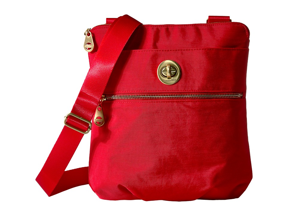 Baggallini Hanover Crossbody (Poppy Red) Cross Body Handbags