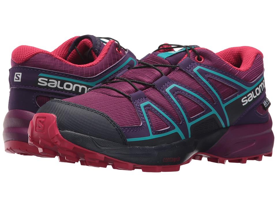 Salomon Kids Speedcross CSWP (Little Kid/Big Kid) (Grape Juice/Evening Blue/Blue Bird) Girls Shoes