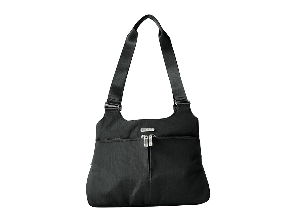 Baggallini - Triple Compartment Satchel (Black) Satchel Handbags