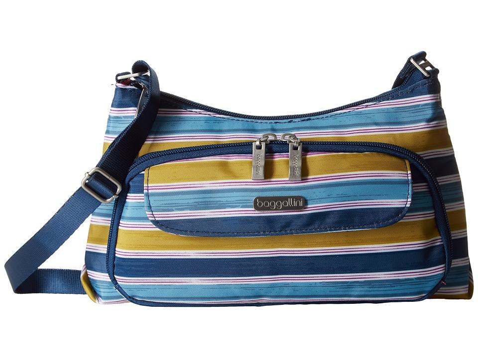 Baggallini Everyday Bagg (Tropical Stripe) Cross Body Handbags