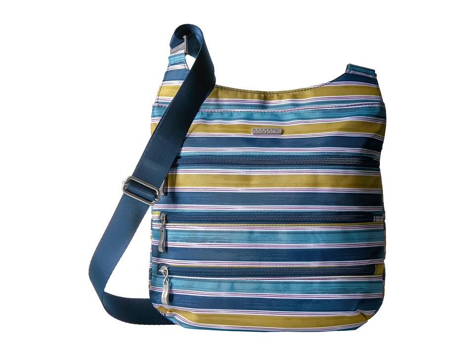 Baggallini Big Zipper Bagg (Tropical Stripe) Cross Body Handbags