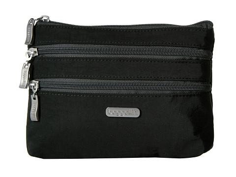 Baggallini 3 Zip Cosmetic Case - Black/Charcoal