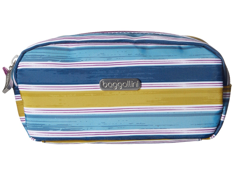 Baggallini Square Cosmetic Case (Tropical Stripe) Cosmetic Case