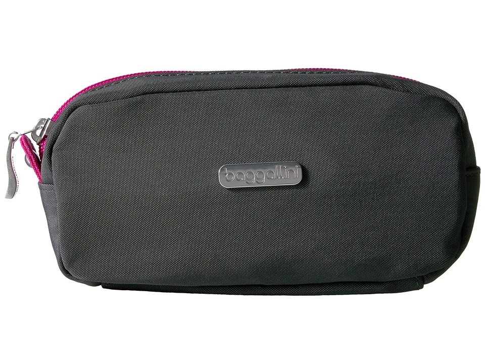 Baggallini Square Cosmetic Case (Charcoal/Fuchsia) Cosmetic Case