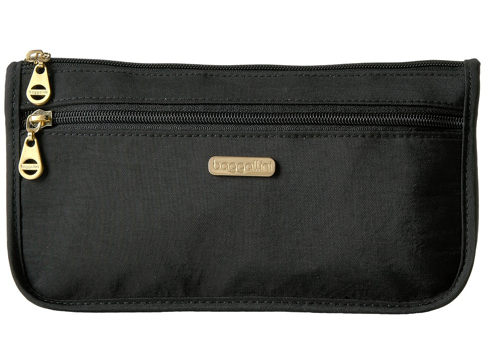 Baggallini Fiji Large Wedge Case (Black) Cosmetic Case