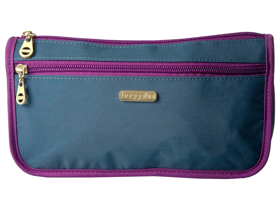 Baggallini Fiji Large Wedge Case (Slate Blue) Cosmetic Case