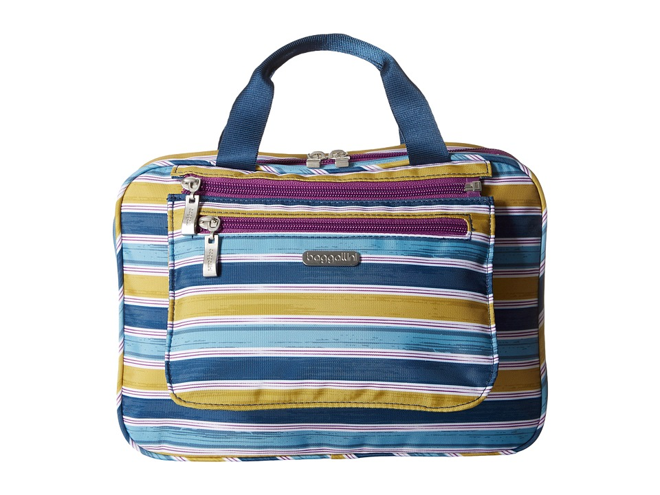 Baggallini Deluxe Travel Cosmetic (Tropical Stripe Multi) Cosmetic Case