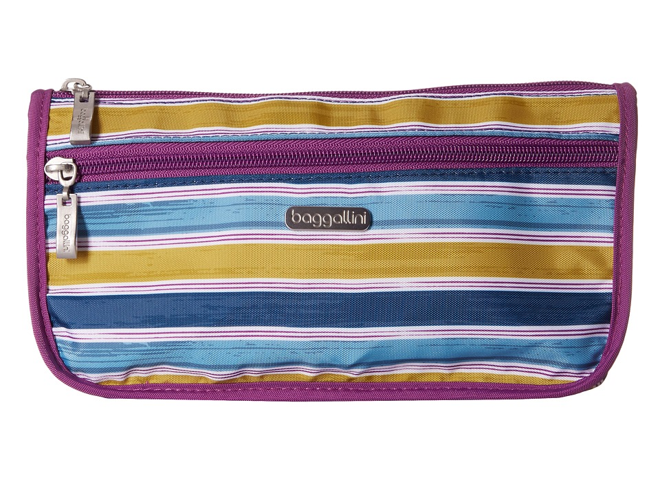 Baggallini Large Wedge Case (Tropical Stripe) Cosmetic Case