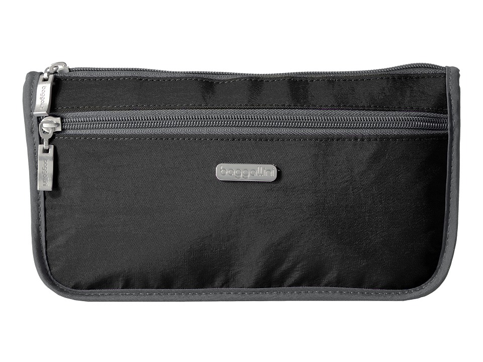 Baggallini Large Wedge Case (Black/Charcoal) Cosmetic Case
