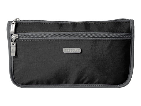 Baggallini Large Wedge Case - Black/Charcoal