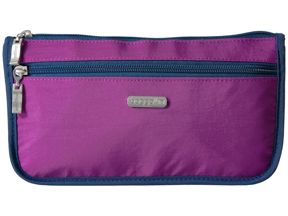 Baggallini Large Wedge Case (Magenta/Pacific) Cosmetic Case