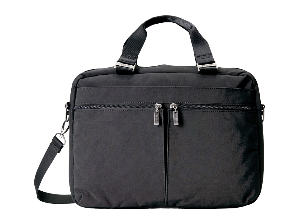 Baggallini Slim Laptop Brief (Charcoal) Bags