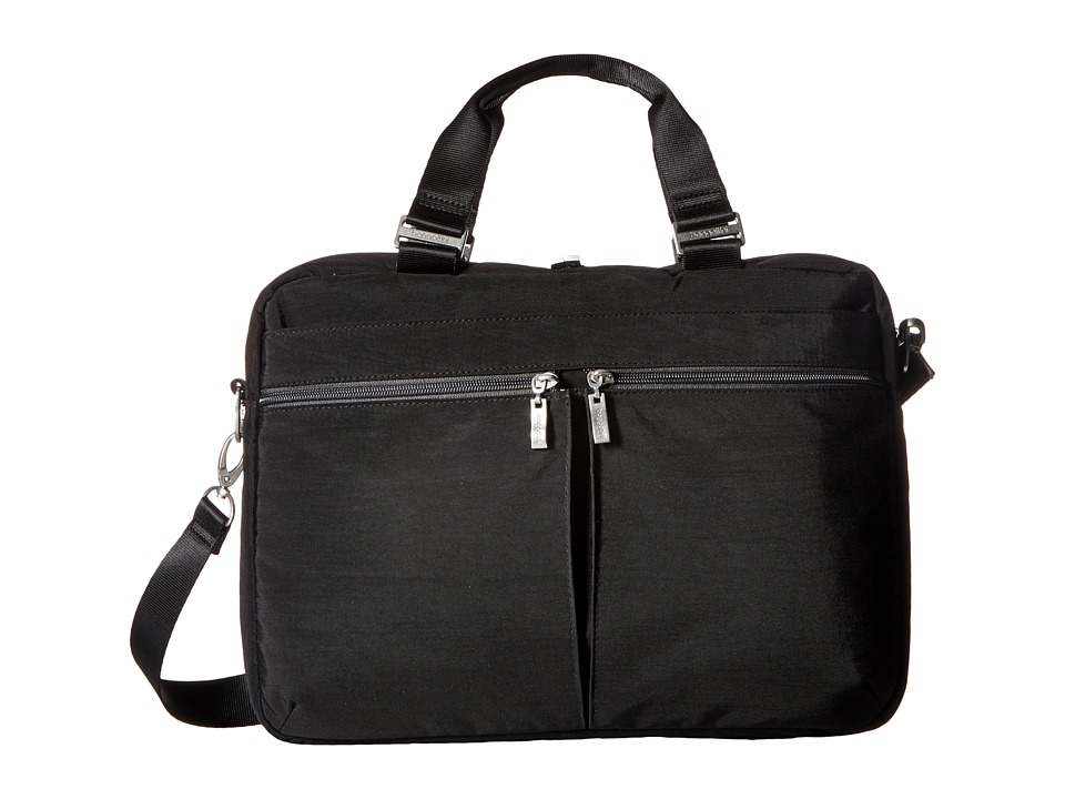 Baggallini Slim Laptop Brief (Black/Charcoal) Bags