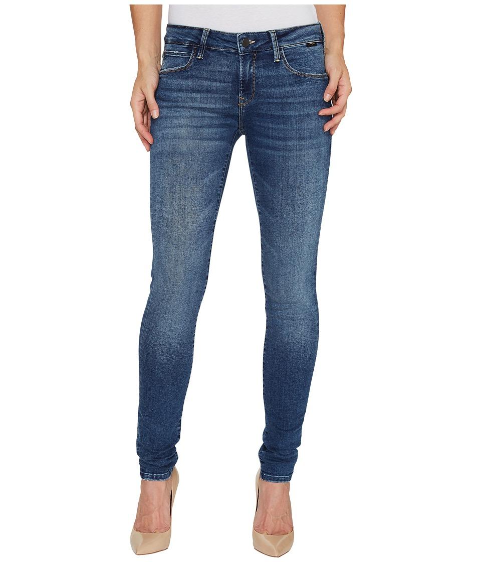 Mavi Jeans Adriana Mid-Rise Super Skinny in Dark Used Gold Vintage (Dark Used Gold Vintage) Women