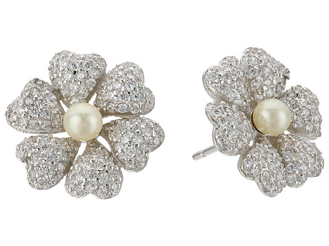 Nina Pluma Pearl Flower Earrings