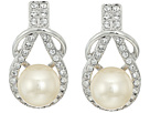 Nina Alton Herculean Knot Pearl/Pave Earrings