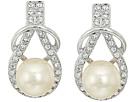 Nina Nina Alton Herculean Knot Pearl/Pave Earrings