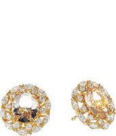 Nina - Raven Crystal Stud Earrings