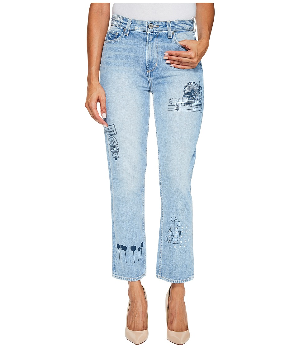 Paige High-Rise Sarah Straight in Briezy (Briezy) Women
