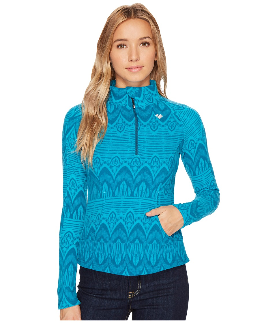 Obermeyer Siena Fleece Top (Mermaid Artisan) Women