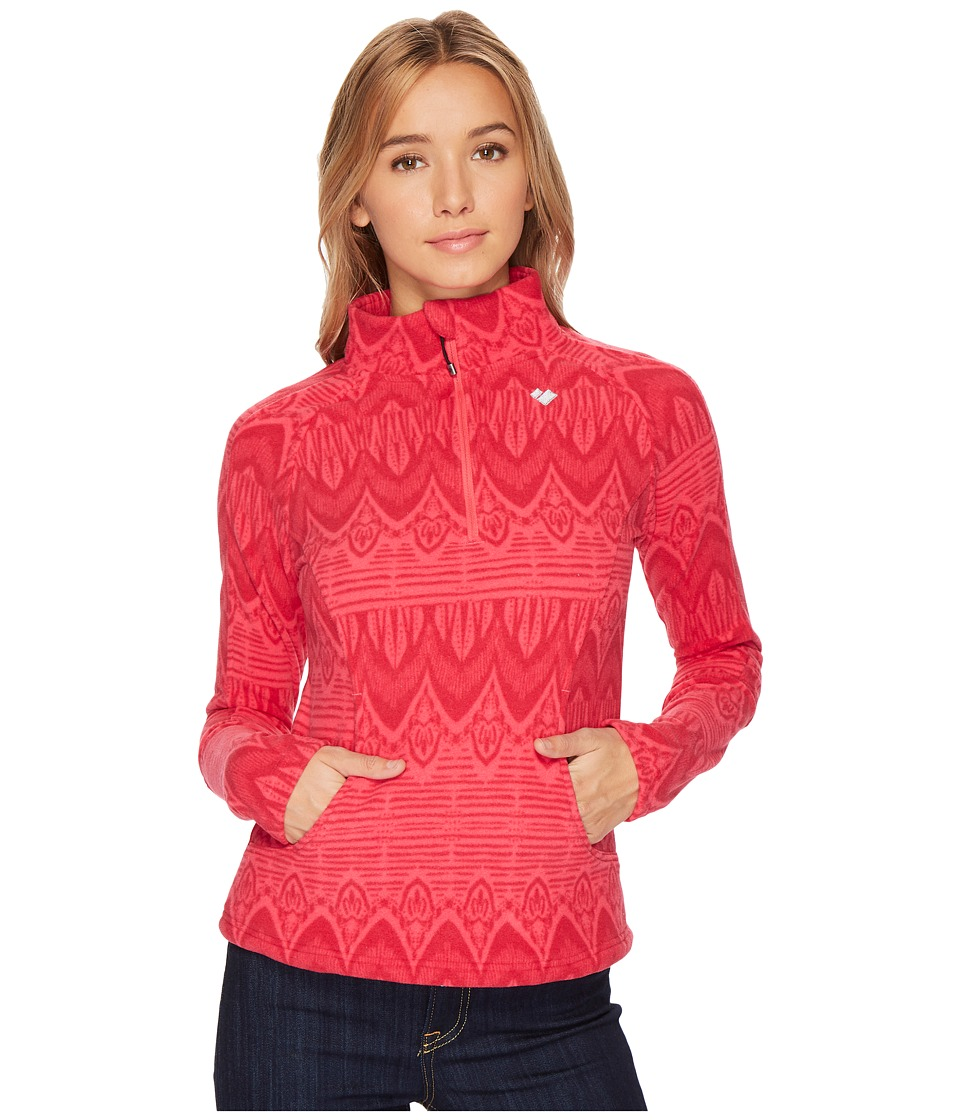 Obermeyer Siena Fleece Top (Alpine Rose Art) Women