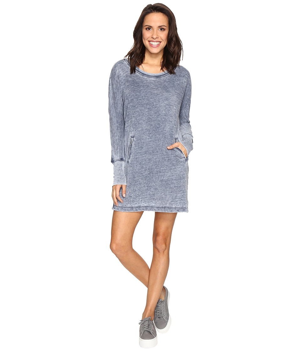 Allen Allen Long Sleeve Dolman Two-Pocket Dress (Lapis) Women